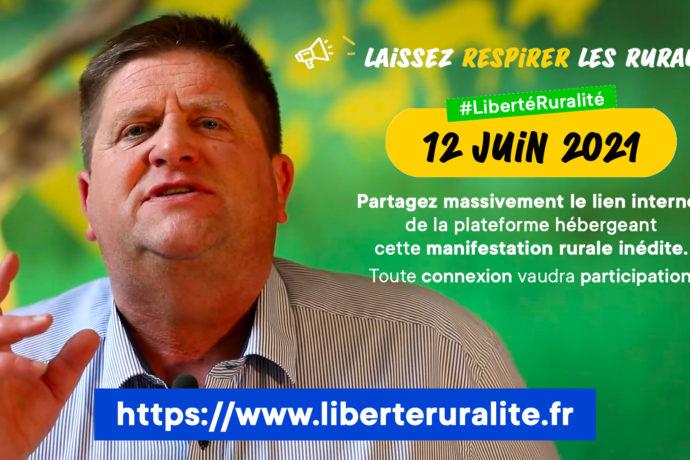 Grande manifestation virtuelle rurale samedi 12 juin